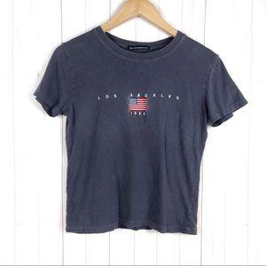 Brandy Melville LA USA Flag T-Shirt